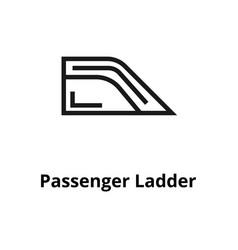 passenger ladder line icon vector image