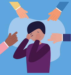 people mental disorder psychological depressed vector image