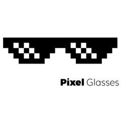 pixel glasses icon vector image