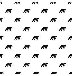 polar bear kid pattern seamless vector image