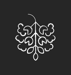 Poplar tree pollen chalk white icon on black vector