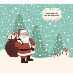 Postcard with Santa vector image