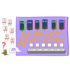 printable educational page for kids with vector image