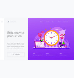 Productivity landing page template vector