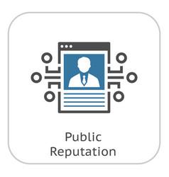 public reputation icon vector image