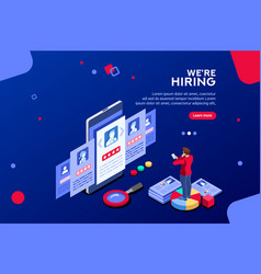 recruiting concept isometric vector image
