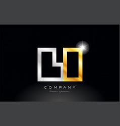 red white alphabet letter li l i combination for vector image