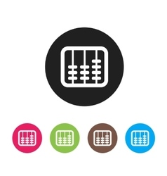 Retro old abacus icon Colored abacus icon in vector image