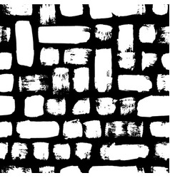 Seamless pattern black and white painted vector