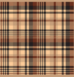 seamless pattern tartan chocolate color background vector image