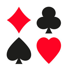 Set symbols playing cards suit vector