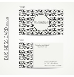 Simple business card design Delta trigon vector