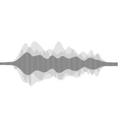 Sound waveforms sound waves and musical vector