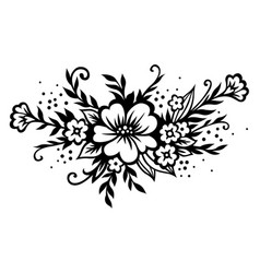 stylized floral bouquet vector image