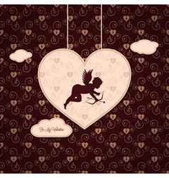 valentines angel background vector image