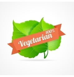 vegan label vector image