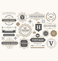 vintage sign frames old decorative frame design vector image