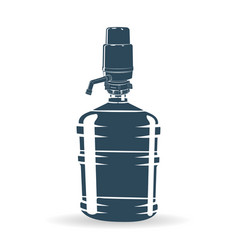 Water pump bottle blue vector