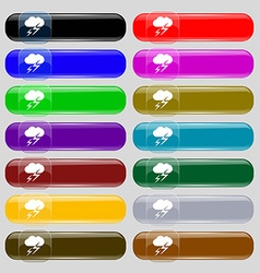 Weather icon sign Set from fourteen multi-colored vector