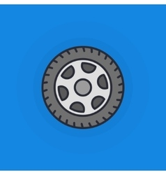 Wheel flat icon vector image