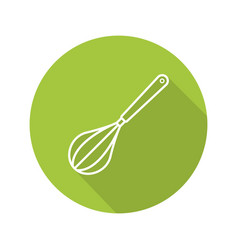 Whisk flat linear long shadow icon vector