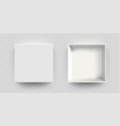 White box mock up 3d model top view isolated vector