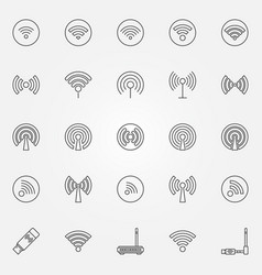 wi-fi icons set vector image