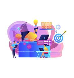 Workflow concept vector