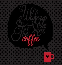 Card with coffee Lettering I love coffee vector image vector image