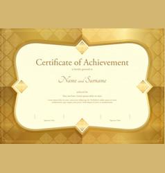 certificate of appreciation template thai art vector image vector image