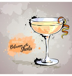 cocktail between the sheets vector image vector image
