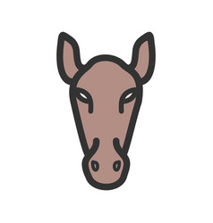 horse face vector image vector image