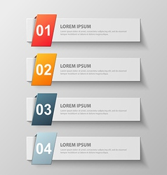 paper infographic18 vector image vector image