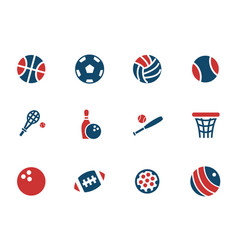 sport balls icon set vector image