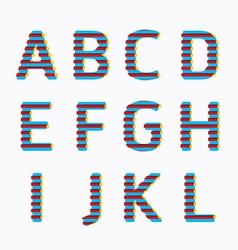 alphabet modern paper line colour concept vector image vector image