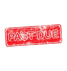 pass due red grunge rubber stamp vector image vector image