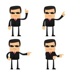 security guard cartoon vector image vector image