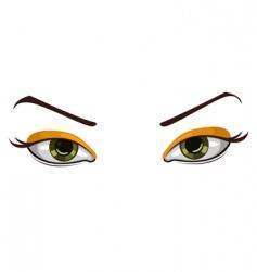 vector beautiful eyes vector image vector image