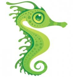 Cartoon seahorse vector