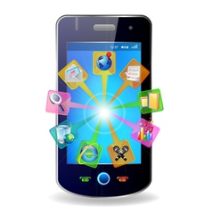 mobile and icons vector image vector image