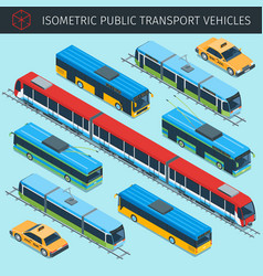 public transport vehicles vector image