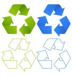 set of recycling symbols vector image