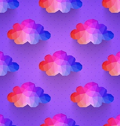 cloud seamless pattern background made of vector image vector image