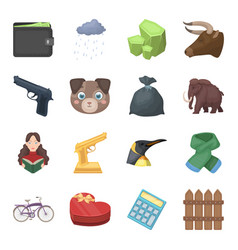 finance police animals and other web icon in vector image vector image