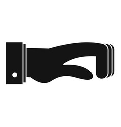 hand concept icon simple black style vector image vector image