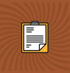 Resume document icon simple line cartoon vector