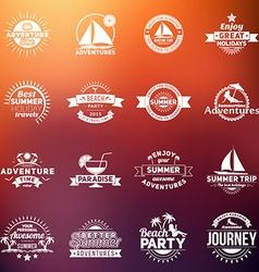 Set of Summer Holidays Design Elements Hipster vector image