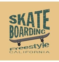 skateboarding t-shirt - inscription typography vector image vector image
