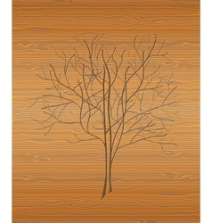 Wood texture with tree vector image
