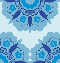 7 ornamental corners flowers silhouette pattern vector
